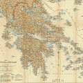 Vintage Map Of Greece - 1894 by CartographyAssociates
