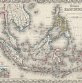 Vintage Map Of Indonesia And The Philippines by CartographyAssociates