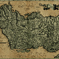 Vintage Map Of Ireland 1771 by Andrew Fare