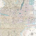 Vintage Map Of Jersey City And Hoboken  by CartographyAssociates