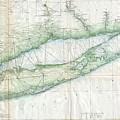 Vintage Map Of Long Island Ny by CartographyAssociates