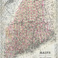 Vintage Map Of Maine  by CartographyAssociates