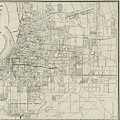 Vintage Map Of Memphis Tennessee - 1911 by CartographyAssociates