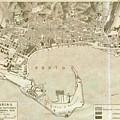 Vintage Map Of Messina Italy - 1900 by CartographyAssociates