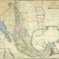 Vintage Map Of Mexico - 1847 by CartographyAssociates