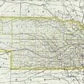 Vintage Map Of Nebraska - 1889 by CartographyAssociates
