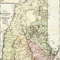 Vintage Map Of New Hampshire - 1796 by CartographyAssociates