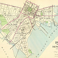 Vintage Map Of New Haven Connecticut - 1893 by CartographyAssociates