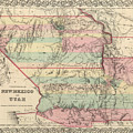 Vintage Map Of New Mexico And Utah - 1857 by CartographyAssociates