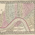 Vintage Map Of New Orleans - 1880 by CartographyAssociates