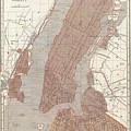Vintage Map Of New York City - 1845 by CartographyAssociates