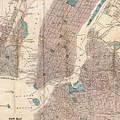 Vintage Map Of New York City - 1867 by CartographyAssociates