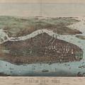 Vintage Map Of New York City - 1905 by CartographyAssociates