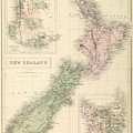 Vintage Map Of New Zealand - 1854 by CartographyAssociates