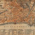 Vintage Map Of Nice France - 1914 by CartographyAssociates