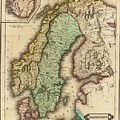 Vintage Map Of Norway And Sweden - 1831 by CartographyAssociates