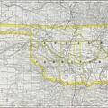 Vintage Map Of Oklahoma - 1889 by CartographyAssociates