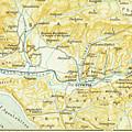 Vintage Map Of Olympia Greece - 1894 by CartographyAssociates