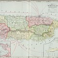Vintage Map Of Puerto Rico - 1901 by CartographyAssociates