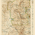 Vintage Map Of Rocky Mountain National Park - Colorado - 1919/1940 by Blue Monocle