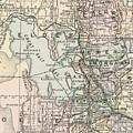 Vintage Map Of Salt Lake City - 1891 by CartographyAssociates