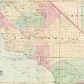 Vintage Map Of Southern California - 1874 by CartographyAssociates