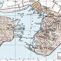 Vintage Map Of St. John New Brunswick - 1894 by CartographyAssociates