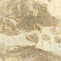 Vintage Map Of Stockholm  by CartographyAssociates