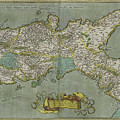 Vintage Map Of The Kingdom Of Naples - 1608 by CartographyAssociates