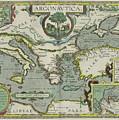 Vintage Map Of The Mediterranean Sea - 1608 by CartographyAssociates