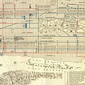 Vintage Map Of The Nyc Railways  by CartographyAssociates