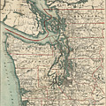 Vintage Map Of The Puget Sound - 1910 by CartographyAssociates