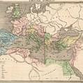 Vintage Map Of The Roman Empire - 1838 by CartographyAssociates