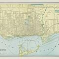 Vintage Map Of Toronto - 1901 by CartographyAssociates