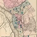 Vintage Map Of Trenton Nj - 1872 by CartographyAssociates