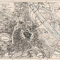 Vintage Map Of Vienna Austria - 1906 by CartographyAssociates
