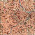 Vintage Map Of Vienna Austria - 1920 by CartographyAssociates