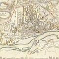 Vintage Map Of Warsaw Poland - 1831 by CartographyAssociates