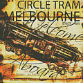 Vintage Melbourne Tram Tin Sign by Jorgo Photography - Wall Art Gallery