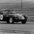 Vintage Mg On Track by Mike Martin