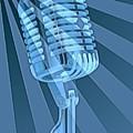 Vintage Microphone Pop Art by Dan Sproul