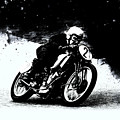 Vintage Motorcycle Racer by Mark Rogan