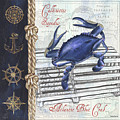 Vintage Nautical Crab by Debbie DeWitt