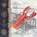 Vintage Nautical Lobster by Debbie DeWitt
