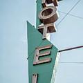 Vintage Neon Sign Hotel Livingston Montana by Edward Fielding
