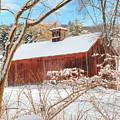 Vintage New England Barn Portrait by Bill Wakeley