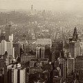 Vintage New York City Panorama by Mountain Dreams