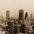 Vintage New York City Skyline Photograph - 1935 by PhotographyAssociates