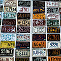 Vintage Number Plates by Martin Newman
