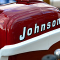 Vintage Johnson Outboard Red  by David Lee Thompson